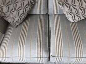 DFS 2 SEATER SOFA & 1 MATCHING ARM CHAIR, BLARELY USED CONDITION