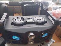 GHETTO BLASTER HOME DISCO BLUETOOTH USB SOUND SYSTEM SPEAKER 80W KARAOKE 2 MIC INPUT