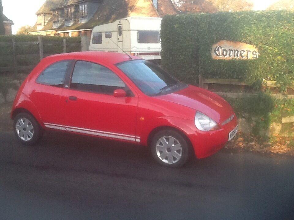 2008 (08plate) ford KA 1.3 petrol in red