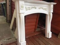 fire surround painted wood not plaster for sale  Sunderland, Tyne and Wear