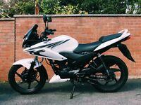 White Honda CBF125 2014 Low Mileage
