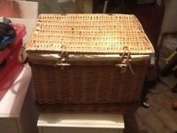 Wicker basket, hamper