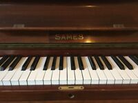 Upright Sales Piano, 85 keys, good playing condition, overstrung, metal frame