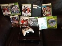 Xbox 360 slim 1 controller 11 games exile to working order.