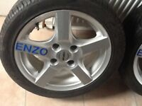 Enzo 15 inch wheels and tyres as new