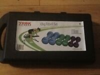 10kg fit bell set by York Fitness