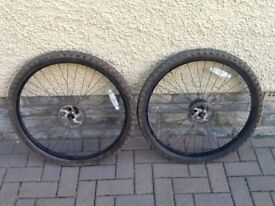 FRONT & REAR 26 inch BICYCLE WHEELS WITH DISCS