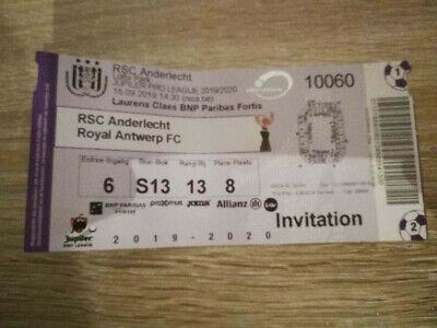 Ticket RSC Anderlecht - Royal Antwerp 15-09-2019 Pro League Belgique