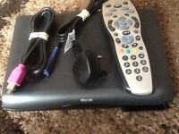 Multiroom sky he box with remote and accessories