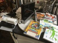 Nintendo 2 controls nunchuck 4 games power leads full working order