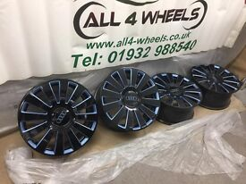 """GENUINE 18"""" 12 Spoke AUDI A8 ALLOY WHEELS. WE WILL ALSO SUPPLY AND FIT/BALANCE NEW TYRES"""