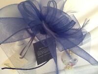 Brand new Fascinator in royal blue