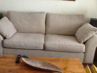 Next Garda large sofa beige in colour