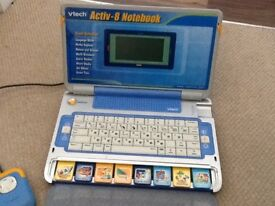Vtech Activ 8 notebook with mouse and power adaptor