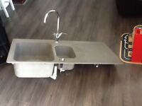 Blanco sink bowl ad a half with taps fitted £40 can deliver locally