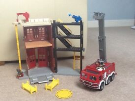 Imaginext fire engine and fire station