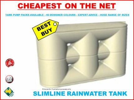 3000LT RAIN WATER TANK SLIMLINE ONLY 2350 Length SYD METRO DEALER Penrith Penrith Area Preview