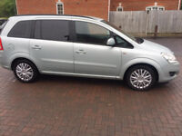 59 PLATE VAUXHALL ZAFIRA 1.6 i 16v EXCLUSIVE 5DR 7 SEATER, LONG MOT, LADY OWNER, 79K
