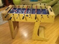 Football Table. Good working order and folds away!