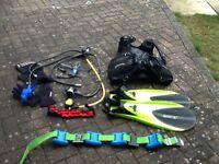 Full set of scuba diving equipment