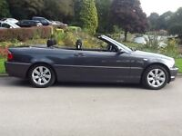 BWM 320Ci CONVERTIBLE - ANTHRACITE GREY WITH BLACK AUTO HOOD, 1 OWNER FROM NEW