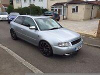 audi a3 turbo,1997,18,s,dump valve,front mounted,mot,£999,no offers