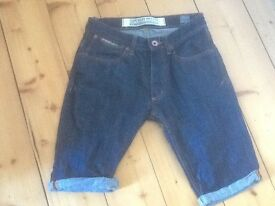 Mens superdy denim shorts as new 28 waist