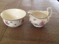 Ducal Crown Ware Cream Jug and Sugar Bowl