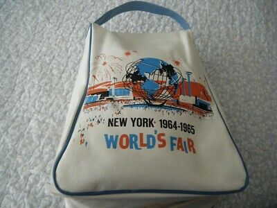 New York World's Fair Vinyl Souvenier Bag 1964 Very Rare Excellent Condition