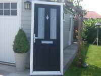 Composite door black out white in 890 X 2030 £230 .
