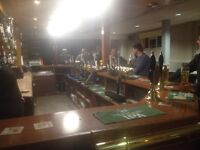 ASHFORD ROAD CLUB IN OLD TOWN SWINDON REQUIRE A PART TIME RELIEF BAR PERSON IN THE EVENINGS