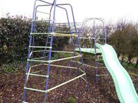 Climbing Frame with Slide, Firemans Pole & monkey bars TP Frame