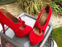 Beautiful red high heels,size 6