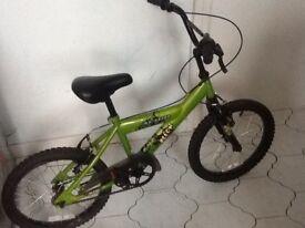 "Children's Avignon Recon BMX style bike. 18"" wheels, puncture repair needed to back wheel."