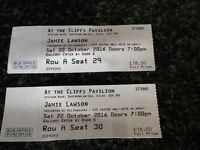 Jamie Lawson tickets x2 tonight Southend 22/10/16 Balcony seats