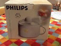 Brand new, never used, Philips Ice cream maker 0.8 ltr + recipe book