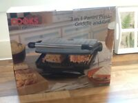 Panini press griddle and grill