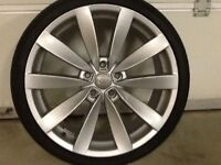 19INCH 5/112 SCIROCCO STYLE AUDI VW SEAT ALLOY WHEELS WITH TYRES FIT MOST MODELS