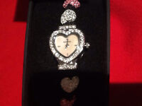 New Sekonda Dress Watches, Heart & Round Face Gem stone Style, Genuine Box, Was £80, Sell £25 Each