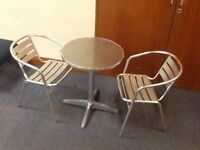 Metal Bistro Table with 2 chairs.