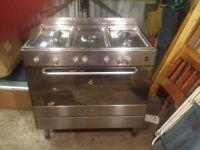 ELBA Full Gas Range Cooker - Stainless Steel - Single Door - Oven/Cooker