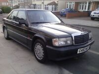 Mercedes 190e 2.6 petrol Auto Amg kit from new, finished in metallic black full service history