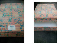DOUBLE DIVAN BASE WITH ONE VERY LARGE STORAGE DRAWER MATCHING AIRSPRUNG MATTRESS VIEWING WELCOME