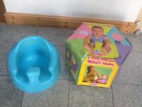 Baby seat-award winning ,multi-million selling worldwide -moulded rubber baby seat lightly used-£15