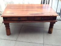Coffee table & cabinet
