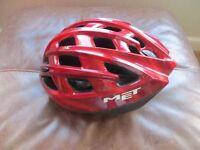 Women's Met Red cycle helmet