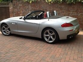 BMW Z4 S-DRIVE 2.0 M SPORT CONVERTIBLE, ONE LADY OWNER, STUNNING, METALLIC SILVER, RED LEATHER