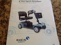 Rascal Veo Sport Mobility Scooter in Aqua
