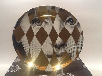 orig.neu PIERO FORNASETTI Wand-Teller gold#368 Sonderedition Quartier 206 Berlin