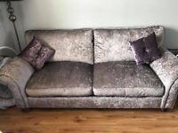 Crushed Velvet sofa &arm chair